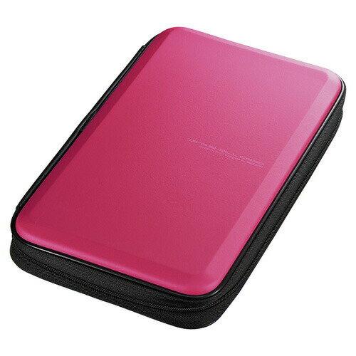 ブルーレイディスク対応セミハードケース 56枚収納 ピンク Blu-ray・DVD・CD対応 [FCD-WLBD56P]【サンワサプライ】