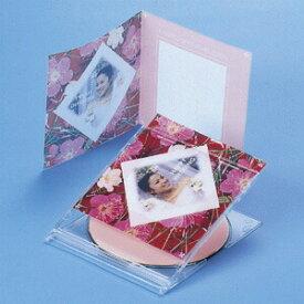 CDプラケース用 2つ折りインデックスカード 5枚 フォト光沢 薄手 トレーシングペーパータイプ CDジャケット