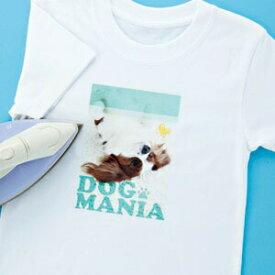 アイロンプリント紙 洗濯に強い 白布用 はがきサイズ 5枚 オリジナルTシャツ作成に最適 転写紙 運動会・学園祭に
