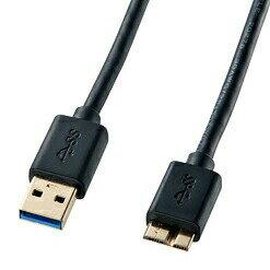 USB3.0ケーブル(A-microB・ブラック・1.8m・USB IF認証タイプ)[KU30-AMC18BK]