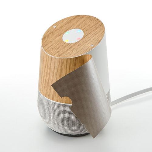 Google Homeスキンシール(木目調)[LCD-GH2]【送料無料】