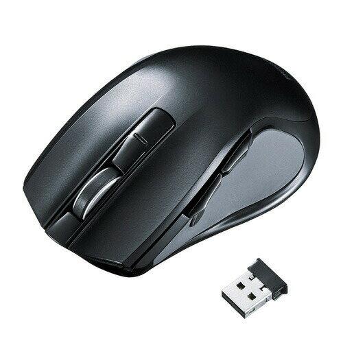 ワイヤレスブルーLEDマウス(心拍センサー付・大型)[MA-WHLS1]