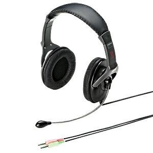 ヘッドセット 両耳タイプ 大口径 ソフトイヤーパッド 半密閉型 スカイプ(Skype)やメッセンジャーに最適なマイク付ヘッドホン ヘッドフォン [MM-HS514]【サンワサプライ】