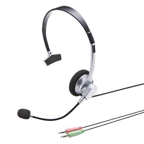 マルチメディアヘッドセット(ノイズキャンセル・片耳)[MM-HS519NCN]