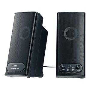 2.0chマルチメディアスピーカー 高音質[MM-SPL5BK]【送料無料】