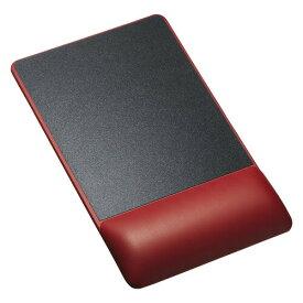 リストレスト付きマウスパッド(レザー調素材、高さ22.5mm、レッド)