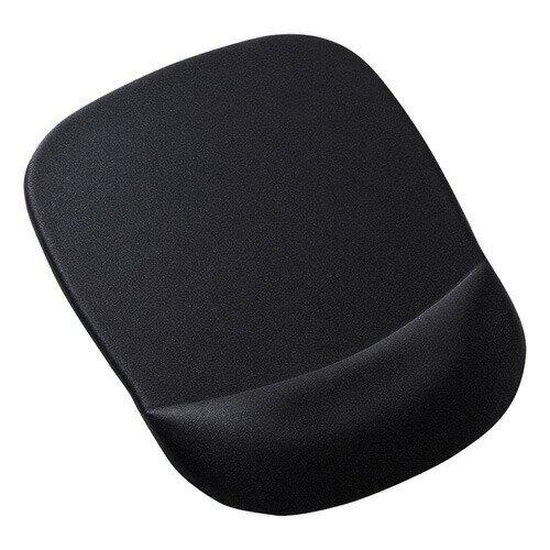 低反発リストレスト付きマウスパッド(ブラック)[MPD-MU1NBK]