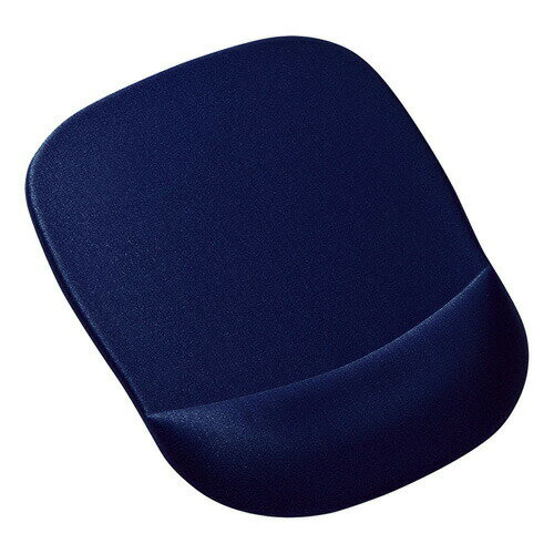 低反発リストレスト付きマウスパッド(ブルー)[MPD-MU1NBL]