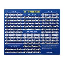 マウスパッド ローマ字変換対応表付 ブルー 光学式マウス対応 レーザーマウス対応 大型 マウスパット