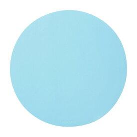 マウスパッド 滑らかシリコン素材 ブルー 光学式マウス対応 レーザーマウス対応 小型 丸型 マウスパット