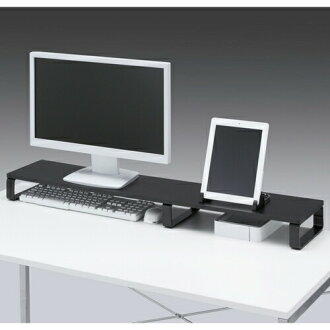Monitor stand on desk stand LCD monitor stands 100cm in width 20cm in depth  black on desk rack LCD monitor stand