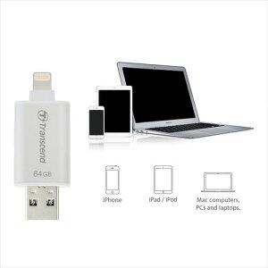 TracnscendiPhoneiPadUSBメモリ64GBLightning対応JetDriveGo300USB3.1対応フラッシュメモリUSBメモリー