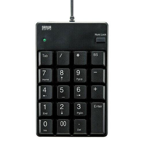 USBテンキー(ブラック・薄型メンブレン)[NT-17UBKN]