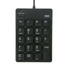 テンキー TABキー付 ブラック アイソレーションタイプ 薄型メンブレンキー USBテンキー