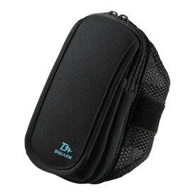 iPhone8 Plus対応 アームバンド(スポーツ向けLサイズ・5.5インチ・ブラック)[PDA-ARM4BK]