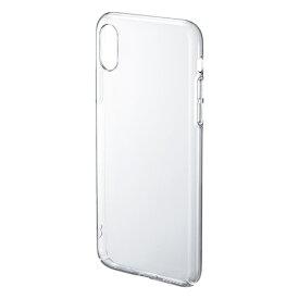 iPhone X クリアハードケース[PDA-IPH017CL]【ネコポス対応】【楽天BOX受取対象商品】