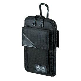 スキミング防止ポケット付きマルチガジェットケース(M・ブラック) iPhone8対応 [PDA-MGSG2BK]