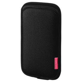 スマホケース iPhone8 Plus対応 やわらか伸縮素材 ブラック 5.5インチスマートフォンまで対応