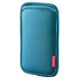 スマホケース iPhone8 Plus対応 やわらか伸縮素材 ブルー 5.5インチスマートフォンまで対応[PDA-SPC15BL]【サンワサプライ】【ネコポス対応】【楽天BOX受取対象商品】