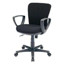 オフィスチェア ブラック ロッキング 肘付 椅子