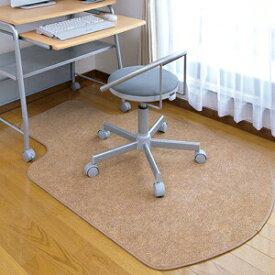 チェアマット ブラウン オフィスチェア用 イスのキャスターで床が傷つくのを防ぐ 椅子 フロアシート 床保護マット 畳 フローリング