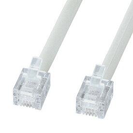 電話ケーブル(エコロジー・ノーマル・ホワイト・0.5m)