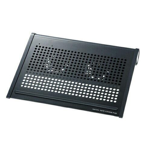 ノートPCクーラー ノートパソコン冷却 14.1型ワイドまで対応 ブラック 放熱アルミ ファン位置移動可能 ノートクーラー 熱対策 [TK-CLN16U2N]【サンワサプライ】【送料無料】