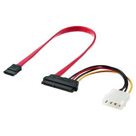SATAケーブル 0.3m SATA3対応 電源データ一体型 シリアルATAケーブル自作用 PCパーツ DOS/Vパーツ