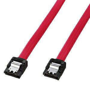 SATAケーブル 1m 高速転送SATA3対応 両コネクタラッチ付き シリアルATAケーブル自作用 PCパーツ DOS/Vパーツ [TK-SATA3-1]【サンワサプライ】
