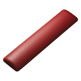 キーボード用リストレスト(レザー調素材、レッド)