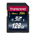 Transcend SDカード 128GB Class10 SDXC 5年保証 メモリーカード クラス10 入学 卒業