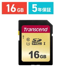 【ケース付き!】Transcend SDカード 16GB ハイグレードタイプ Class10 UHS-I U1 SDHCカード 5年保証 メモリーカード クラス10 入学 卒業