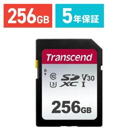 【ケース付き!】Transcend SDXCカード 256GB Class10 UHS-I U3 V30 5年保証 入学 卒業