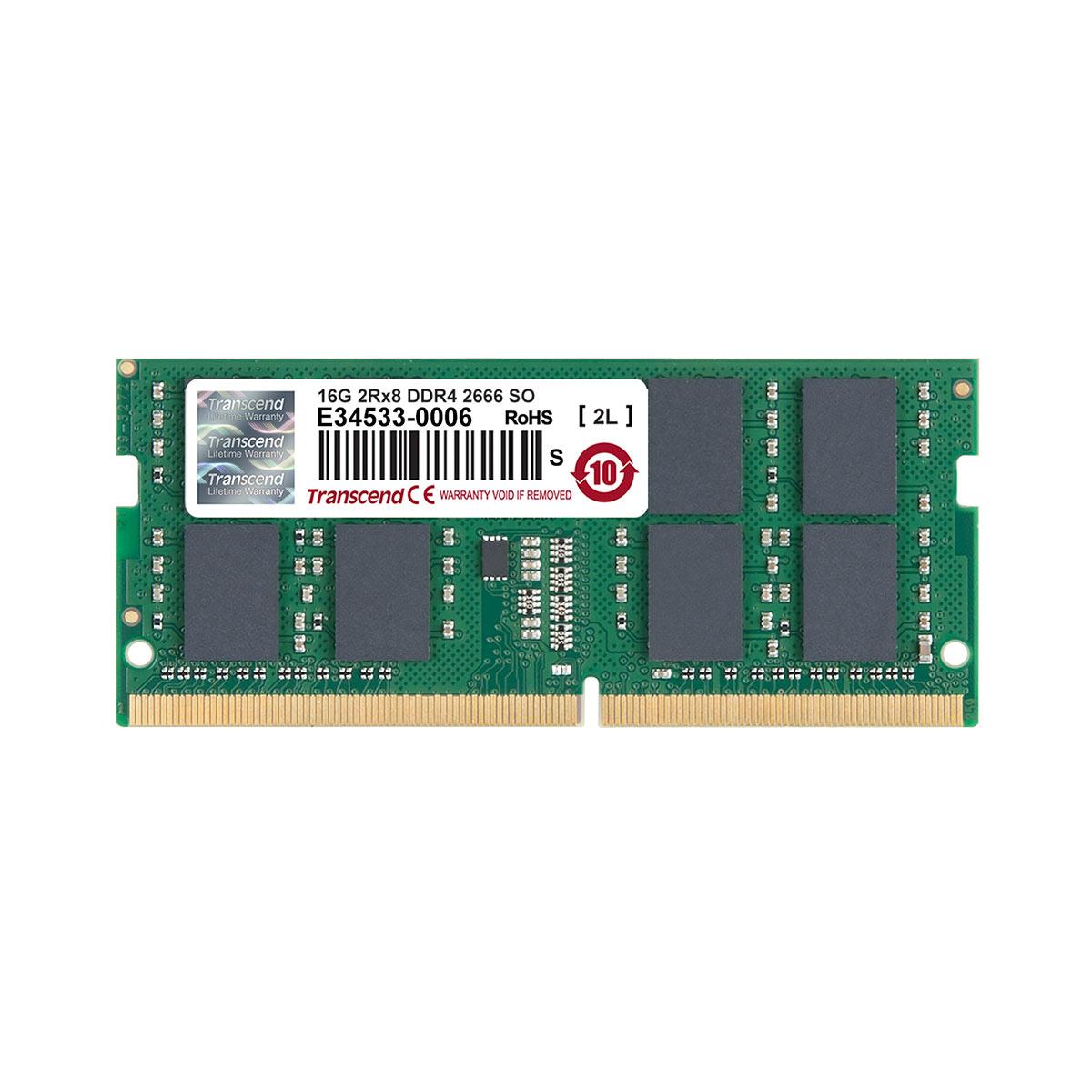 Transcend 増設メモリー 16GB ノートPC用 DDR4-2666 PC4-21300 SO-DIMM PCメモリ メモリーモジュール ノートパソコン用[TS2GSH64V6B]【ネコポス対応】【楽天BOX受取対象商品】【送料無料】