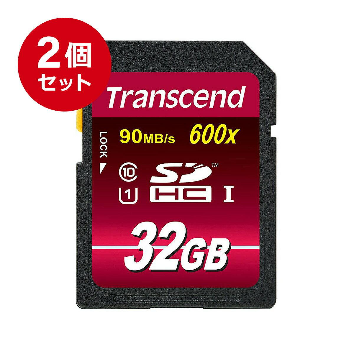 【まとめ割 2個セット】Transcend SDカード 32GB Class10 UHS-I Ultimate 最大90MB/s 5年保証 メモリーカード クラス10 入学 卒業 32 2枚[TS32GSDHC10U1]【ネコポス専用】【送料無料】