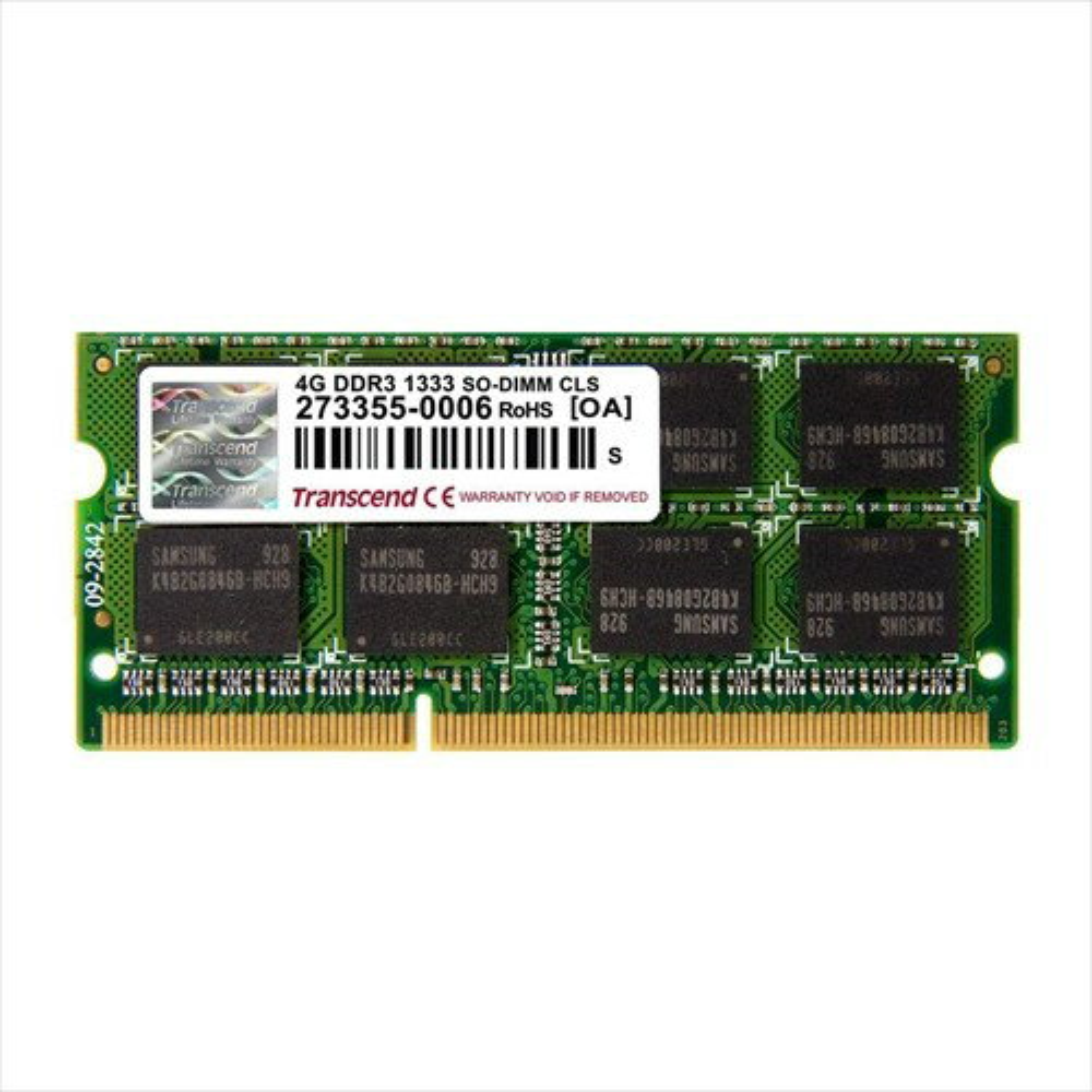 Transcend 増設メモリ 4GB ノートPC用 DDR3-1333 PC3-10600 SO-DIMM PCメモリ メモリーモジュール[TS512MSK64V3N]【ネコポス対応】【楽天BOX受取対象商品】【送料無料】