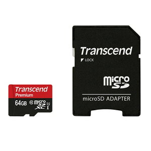 microSDXCカード64GBUHS-I高速Class10(クラス10)永久保証SDアダプター付マイクロSDカードTranscend