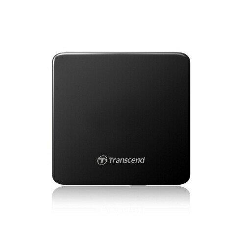 Transcend 極薄ポータブルCD/DVDドライブ ブラック 外付けDVDドライブ スリム 2年保証 ノートパソコンに最適 windows10[TS8XDVDS-K]