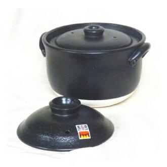 옛날이면서의 밥 냄비(겹뚜껑) 4합취 34-09-02-SE만고토양을 태우는 일냄비 맛있게 지어지는 직경 19.5센치 직공의 정중한 마무리
