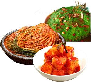 三口一品 白菜キムチ1kg カクテキ415g えごまの葉キムチ215g 人気 NO.1 本格キムチ 韓国 本格派 本場 乳酸菌 健康 食生活