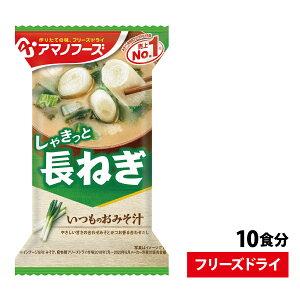 いつものおみそ汁 長ねぎ 1袋 9g 10食セット即席 簡単 インスタント 味噌汁 みそ汁