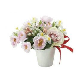 光触媒 人工観葉植物 造花(フェイクフラワー)光の楽園 アレンジフラワー クロッカスローズ 701A30お部屋の消臭・抗菌・防汚効果があります。水やり・お手入れ不要置くだけで素敵な癒し空間約 幅20×奥行18×高さ18cm