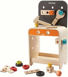 PLANTOYS 5541 ワークベンチデザインと品質に優れた 環境に優しい 木のおもちゃハンマー、スクリュードライバー、レンチ、ナットとボルトを含む22個のツール付き商品サイズ:16.5x23.1x45.5cm対象