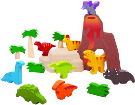 PLANTOYS 6621 ダイナソーデザインと品質に優れた 環境に優しい 木のおもちゃダイナソーセット9種類の恐竜、木が3本、茂みが2本、岩が2個付いています。商品サイズ:12.0×2.3×15.0cm対象性別 :男女共用対象年齢 :3歳から