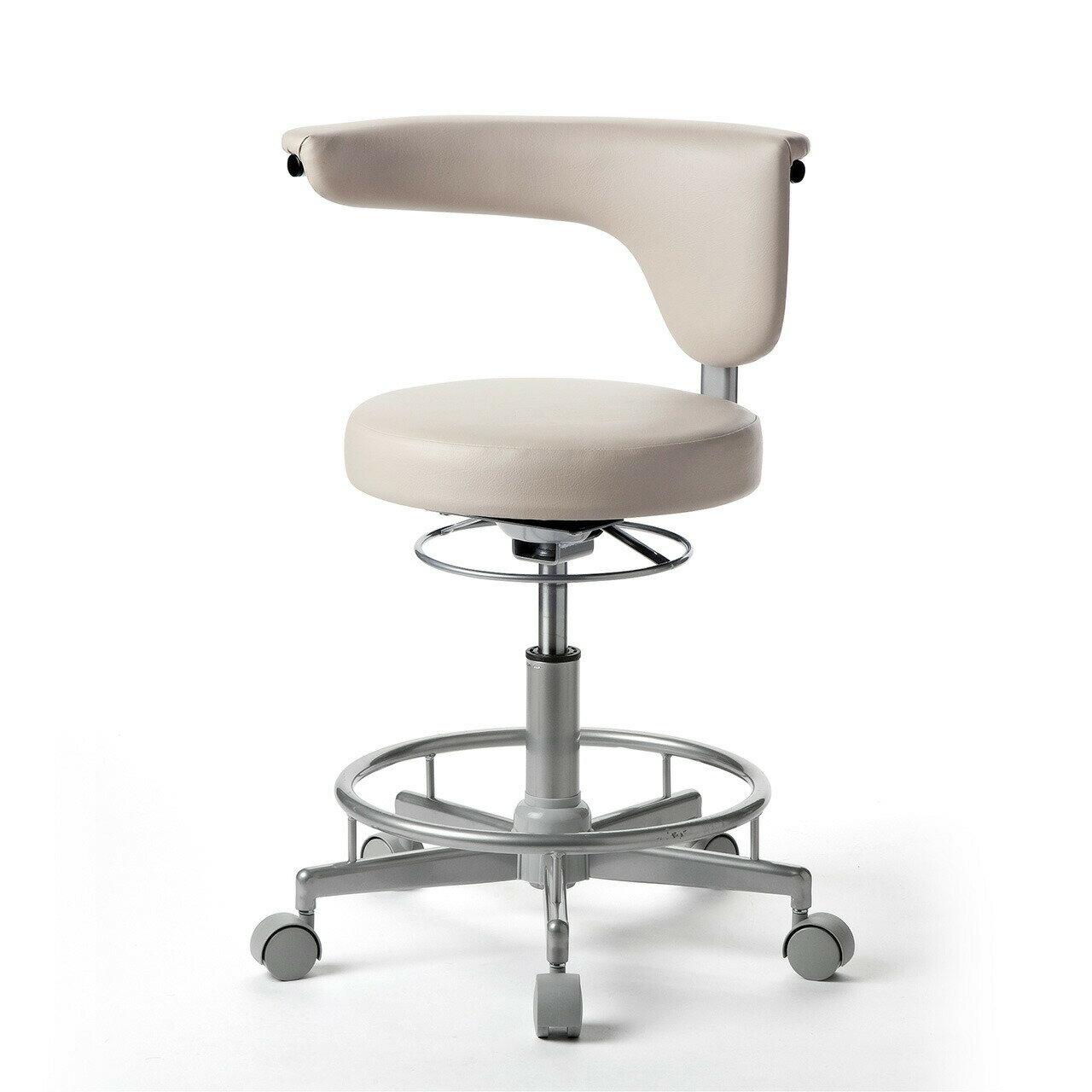 【送料無料】背もたれ付き 丸椅子 スツール PVCレザー ラウンドチェア 丸イス[100-SNC019]