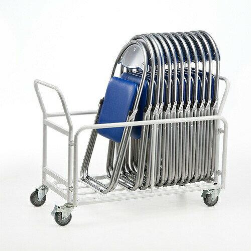 【送料無料】パイプ椅子用 カート 最大20台収納 キャスター付き 台車 折り畳みイス移動 収納 運搬 椅子 [100-SNC037CART]