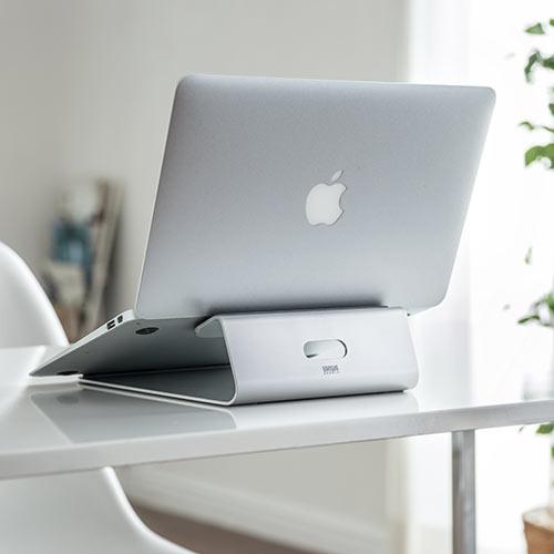 アルミ ノートパソコンスタンド MacBook スタンド 11〜15インチ対応[200-STN024S]