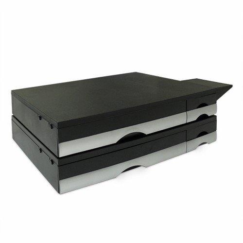 【送料無料】【お買い得2個セット】プリンター台 卓上 引き出し&デジカメスタンド付 プリンタの下に用紙やインクを収納可 プリンタ台 [MR-PS2N]