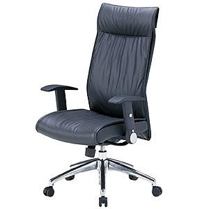 【送料無料】本革レザーチェア ハイバック ロッキング スイングアーム パソコンチェア オフィスチェア 椅子 [SNC-L8]