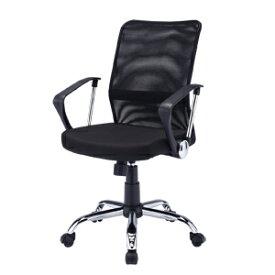 メッシュチェア ネットチェア 肘付 ロッキング パソコンチェア オフィスチェア 椅子 [SNC-NET16ABK]